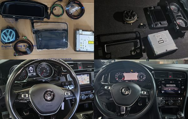 VW Golf 7 2014 Instalare Ceasuri Digitale Virtual Cockpit Camera Spate Navigatie